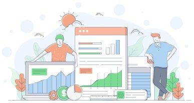 Leaders analyzing employee engagement survey responses